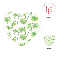Marimekko Fabric Flower Floral Leaf Playing Cards (heart)  by Mariart