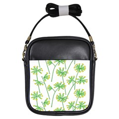 Marimekko Fabric Flower Floral Leaf Girls Sling Bags by Mariart