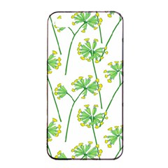 Marimekko Fabric Flower Floral Leaf Apple Iphone 4/4s Seamless Case (black) by Mariart