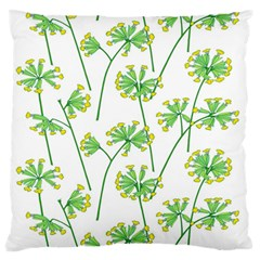 Marimekko Fabric Flower Floral Leaf Large Flano Cushion Case (two Sides) by Mariart