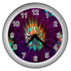 Live Green Brain Goniastrea Underwater Corals Consist Small Wall Clocks (silver)  by Mariart