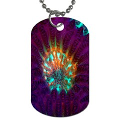 Live Green Brain Goniastrea Underwater Corals Consist Small Dog Tag (two Sides) by Mariart