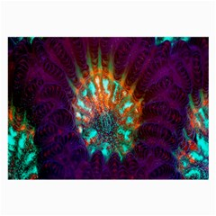 Live Green Brain Goniastrea Underwater Corals Consist Small Large Glasses Cloth (2 Side) by Mariart