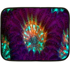 Live Green Brain Goniastrea Underwater Corals Consist Small Double Sided Fleece Blanket (mini)  by Mariart