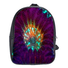 Live Green Brain Goniastrea Underwater Corals Consist Small School Bag (large) by Mariart