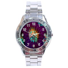 Live Green Brain Goniastrea Underwater Corals Consist Small Stainless Steel Analogue Watch by Mariart