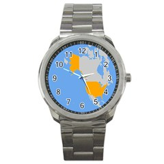 Map Transform World Sport Metal Watch by Mariart