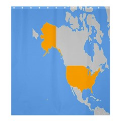 Map Transform World Shower Curtain 66  X 72  (large)  by Mariart