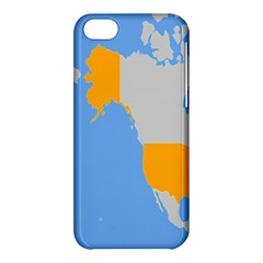 Map Transform World Apple Iphone 5c Hardshell Case by Mariart