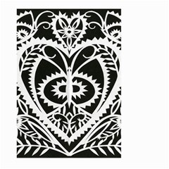Paper Cut Butterflies Black White Large Garden Flag (two Sides) by Mariart