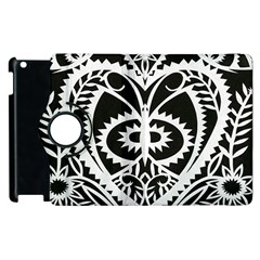 Paper Cut Butterflies Black White Apple Ipad 2 Flip 360 Case by Mariart
