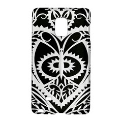 Paper Cut Butterflies Black White Galaxy Note Edge by Mariart