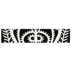 Paper Cut Butterflies Black White Flano Scarf (small)