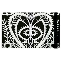 Paper Cut Butterflies Black White Apple Ipad Pro 9 7   Flip Case