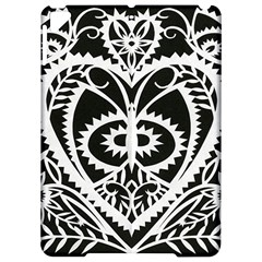 Paper Cut Butterflies Black White Apple Ipad Pro 9 7   Hardshell Case by Mariart