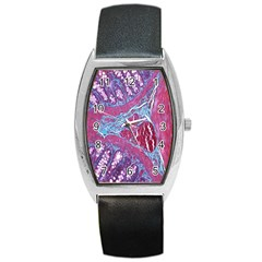 Natural Stone Red Blue Space Explore Medical Illustration Alternative Barrel Style Metal Watch by Mariart