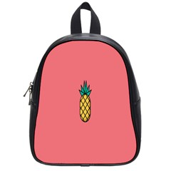 Pineapple Fruite Minimal Wallpaper School Bag (small) by Mariart