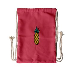Pineapple Fruite Minimal Wallpaper Drawstring Bag (small) by Mariart