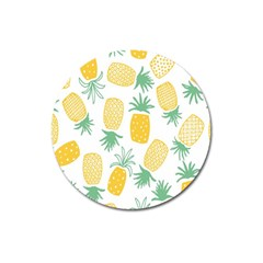 Pineapple Fruite Seamless Pattern Magnet 3  (round) by Mariart