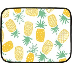 Pineapple Fruite Seamless Pattern Fleece Blanket (mini) by Mariart