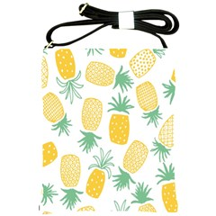 Pineapple Fruite Seamless Pattern Shoulder Sling Bags by Mariart