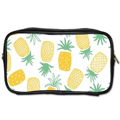 Pineapple Fruite Seamless Pattern Toiletries Bags 2 Side by Mariart