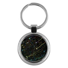 Neurons Light Neon Net Key Chains (round)  by Mariart