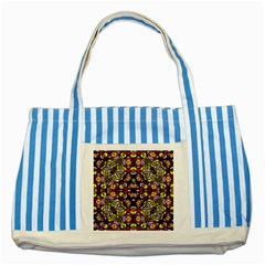 Queen Design 456 Striped Blue Tote Bag by MRTACPANS