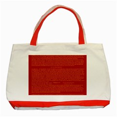 Mrtacpans Writing Grace Classic Tote Bag (red) by MRTACPANS