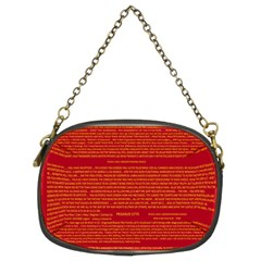 Mrtacpans Writing Grace Chain Purses (two Sides)  by MRTACPANS