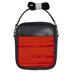 Mrtacpans Writing Grace Girls Sling Bags by MRTACPANS