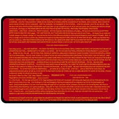 Mrtacpans Writing Grace Fleece Blanket (large)