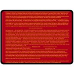 Mrtacpans Writing Grace Fleece Blanket (Large)  80 x60 Blanket Front