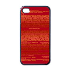 Mrtacpans Writing Grace Apple Iphone 4 Case (black) by MRTACPANS