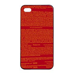 Mrtacpans Writing Grace Apple Iphone 4/4s Seamless Case (black) by MRTACPANS