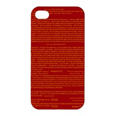 Mrtacpans Writing Grace Apple Iphone 4/4s Hardshell Case by MRTACPANS