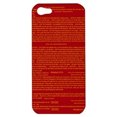 Mrtacpans Writing Grace Apple Iphone 5 Hardshell Case by MRTACPANS