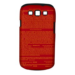 Mrtacpans Writing Grace Samsung Galaxy S Iii Classic Hardshell Case (pc+silicone) by MRTACPANS