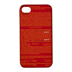 Mrtacpans Writing Grace Apple Iphone 4/4s Hardshell Case With Stand by MRTACPANS