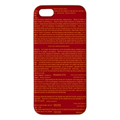 Mrtacpans Writing Grace Apple Iphone 5 Premium Hardshell Case by MRTACPANS
