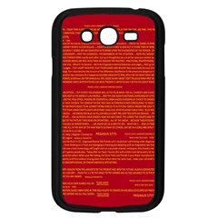 Mrtacpans Writing Grace Samsung Galaxy Grand Duos I9082 Case (black) by MRTACPANS