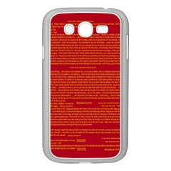 Mrtacpans Writing Grace Samsung Galaxy Grand Duos I9082 Case (white) by MRTACPANS
