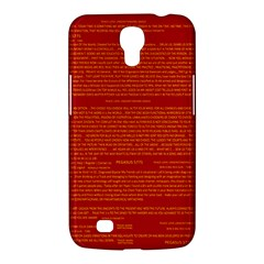 Mrtacpans Writing Grace Samsung Galaxy Mega 6 3  I9200 Hardshell Case by MRTACPANS
