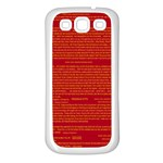 Mrtacpans Writing Grace Samsung Galaxy S3 Back Case (White) Front