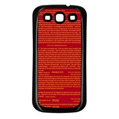 Mrtacpans Writing Grace Samsung Galaxy S3 Back Case (black) by MRTACPANS