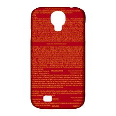 Mrtacpans Writing Grace Samsung Galaxy S4 Classic Hardshell Case (pc+silicone) by MRTACPANS
