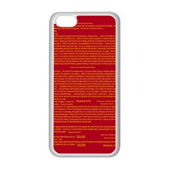 Mrtacpans Writing Grace Apple Iphone 5c Seamless Case (white) by MRTACPANS