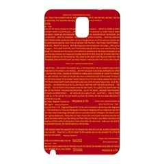 Mrtacpans Writing Grace Samsung Galaxy Note 3 N9005 Hardshell Back Case by MRTACPANS
