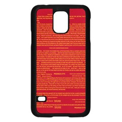 Mrtacpans Writing Grace Samsung Galaxy S5 Case (black) by MRTACPANS