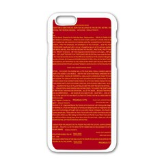 Mrtacpans Writing Grace Apple Iphone 6/6s White Enamel Case by MRTACPANS